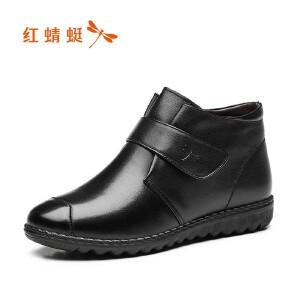 红蜻蜓女鞋秋冬休闲鞋鞋子女女靴子短靴WTC7464