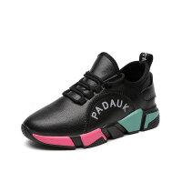 黑色运动鞋女2019跑步鞋韩版百搭女士内增高休闲鞋女鞋子