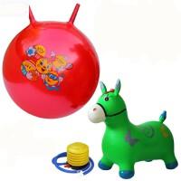 充气马玩具儿童音乐跳跳马加大加厚跳跳鹿骑马皮马大号手柄羊角球