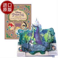 迪士尼公主立体书 英文原版 Disney Princess: A Magical Pop-Up World