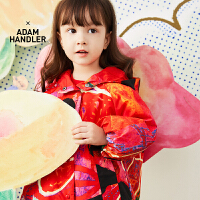 【6折价:377.46元】马拉丁童装女小童外套春装2020年新款中国风红色图案风衣外套