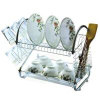 不锈沥水架 碗碟架 双层置物架厨房用品 碗架收纳碗盘架 沥水置物架(A301)
