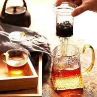 玻璃茶壶单壶家用套装过滤花茶壶耐高温泡茶壶办公室泡茶器冲茶器