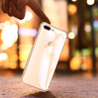 第一卫苹果iPhone8手机壳7plus气囊防摔保护套8透明硅胶iPhone7软壳7P外壳8p女网红个性八男潮牌i8黑液