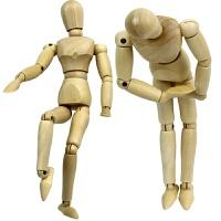 大小号木制人偶模型玩具 儿童百变关节木偶 实木可动静态人偶模型