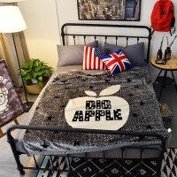 加厚双层毛毯学生宿舍毛毯午睡盖毯单双人法兰绒毛毯保暖盖毯 150cmX200cm