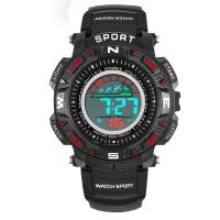 新款运动电子表青少年男士防水多功能手表