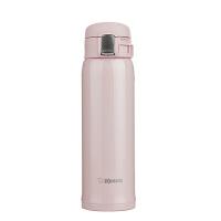 象印保温杯SA48真空不锈钢水杯男女士便携茶杯大容量进口车载杯子-粉色