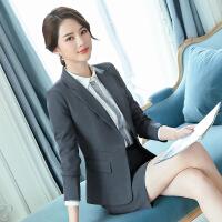 女装正装女西装套装2019新款长袖西服女士气质工装女白领办公室职业装职业套装女