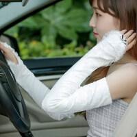 防晒手套女夏季挡紫外线薄款冰蕾丝防晒袖套夏天长款开车手臂套袖