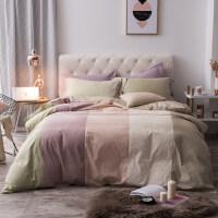 全棉四件套1.8m床套纯棉床单被套1.5被子床上三件套床笠2.0米双人