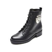 爱旅儿女鞋设计师定制款复古大眼睛帅气短靴EA61507