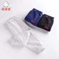 棉果果男女宝宝纯棉裤子碳素磨毛柔软长裤舒适运动外出裤