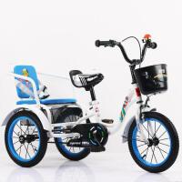 儿童三轮车脚踏车2-6-7岁双人充气轮3-5宝宝自行车带斗大号YW154