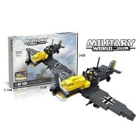 兼容乐高二战军团拼装飞机小孩早教益智塑料diy小颗粒积木玩具6-9-14岁