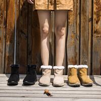 玛菲玛图保暖雪地靴女秋冬季2019新款厚底中跟真皮仿羊毛短筒防滑休闲短靴50515-1