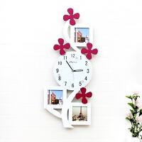 挂钟客厅静音相框时尚创意卧室儿童房艺术挂表个性时钟墙钟