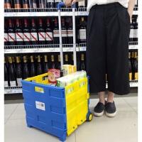 购物车买菜车小拉车手拉车市拉杆车可折叠可坐便携家用拖车拉杆包