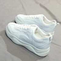 保暖加绒棉鞋百搭韩版运动鞋学生小白鞋休闲鞋冬季网红板鞋潮女鞋 白色 S005-2K
