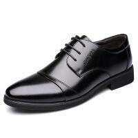 加绒商务鞋 2018秋季冬季新款商务正装男鞋单鞋男士皮鞋一件