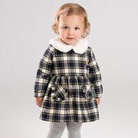 【加绒】davebella戴维贝拉童装冬季新款女童宝宝连衣裙DB11835
