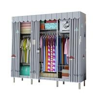 简易布艺衣柜钢管加厚加粗加固收纳柜全钢架布衣柜简约现代经济型