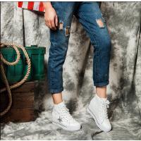 王菲儿 时尚系带头层牛皮内增高女鞋休闲运动鞋8888