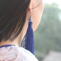 炫彩时尚 陶瓷流苏耳环 耳坠 民族风原创手工复古中国风