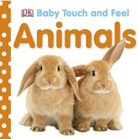 Baby Touch and Feel: AnimalsDK 英文原版儿童触摸书:动物 婴幼儿启蒙读物