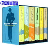 英文原版 The Second World War 丘吉尔二战回忆录 6册礼盒装 历史战争章节小说巨著 Winston S. Churchill