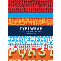 Type Wrap: 10 Sheets of Wrapping Paper with 12 Gift Tags 字体设