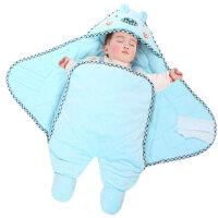 婴儿睡袋儿童多功能连脚睡袋水晶绒宝宝睡袋春秋冬保暖睡袋ZQ98 80cm