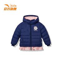 安踏童装女童棉服儿童运动加厚小童保暖羽绒棉服36849962