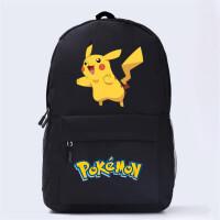 皮卡丘书包 口袋妖怪系列 宠物小精灵周边 动漫双肩包 旅行包背包 黑2