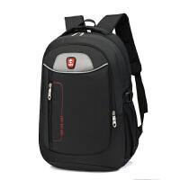新款男士双肩包男商务电脑包女学院风高中学生书包户外休闲旅行包