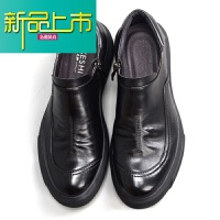 新品上市春季新正装男士商务休闲皮鞋圆头软皮一脚蹬套脚牛皮懒人素人男鞋
