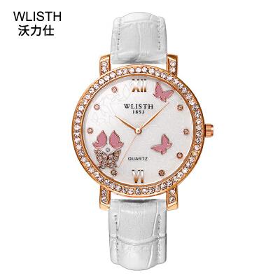 女士手表 时尚商务韩版女表 奢华镶钻石英手表腕表 生活防水