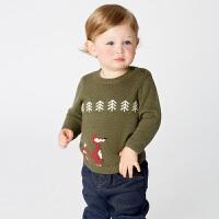 davebella戴维贝拉童装秋冬装新款男童针织套头衫宝宝毛衣DB11410