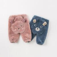 [领��400减80]【加绒】davebella戴维贝拉2019冬季新款男女童宝宝裤子DBW11659