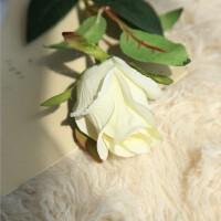 仿真花束家居装饰花假花单支玫瑰花绢花婚庆客厅摆设塑料干花花苞