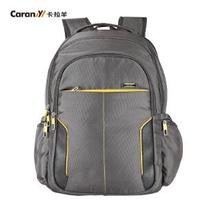 卡拉羊双肩包背包男数码笔记本电脑包休闲旅行便捷包轻盈CS5714