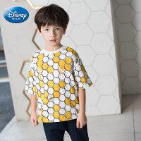 迪士尼童装小熊维尼男童短袖T恤儿童体恤中小童上衣2020夏装新款