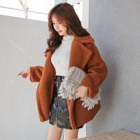 女装秋冬新款羊羔毛加厚保暖毛呢外套女女冬季羊剪绒短款女时尚女装保暖宽松
