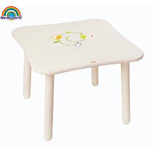 [当当自营]泰国Wonderworld 几何卓 儿童专属家具 家居温馨组合 木质儿童桌