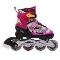 户外运动儿童滑冰鞋套装护具 可调溜冰鞋旱冰鞋直排轮滑鞋闪光