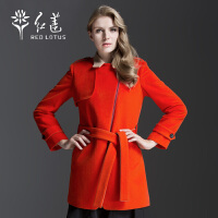 红莲 秋装新款女士羊绒大衣时尚中长款韩版外套