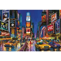 拼图1000片 夜光 纽约时代广场