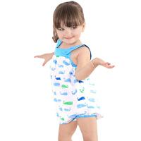 龙之涵 肚兜式网纱布婴儿睡袋 宝宝防踢被全棉透气春夏薄款可分腿