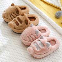 儿童棉拖鞋秋冬小孩室内宝宝1-3岁2婴幼儿男女童卡通可爱保暖