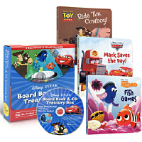 Disney Pixar 皮克斯 迪士尼 故事绘本 礼盒装 纸板书3册+CD Treasury finding nem